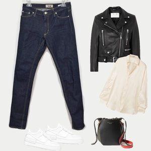 ACNE | Flex Wet Blu mid-rise skinny jeans